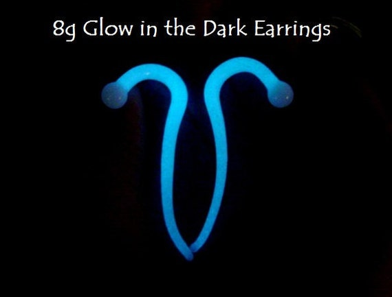 8g Glow in the Dark Talon style Plugs for stretched piercings Made to Order