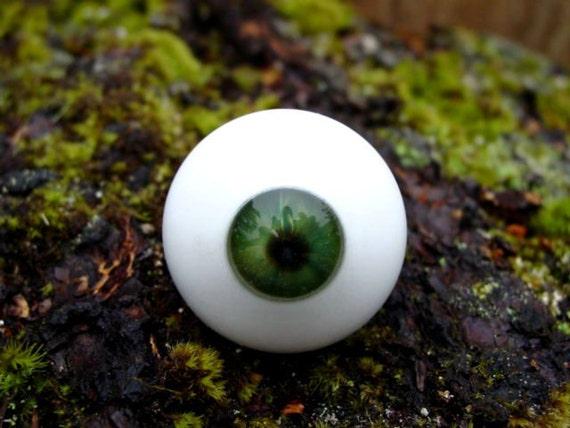 Green Eye eyeball glass jar