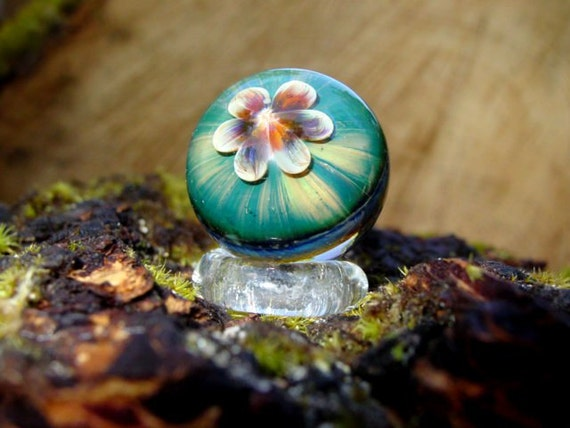 Handblown Glass Marble with Stand