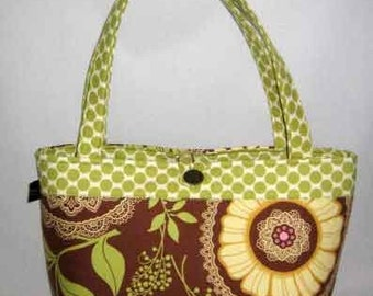 Purse Tote Handbag | Amy Butler Lotus Lacework | Medium size bag