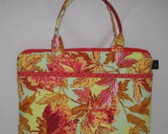 Computer Laptop Netbook iPAD Case   Amy Butler Soul Blossoms Saffron   Ready to Ship