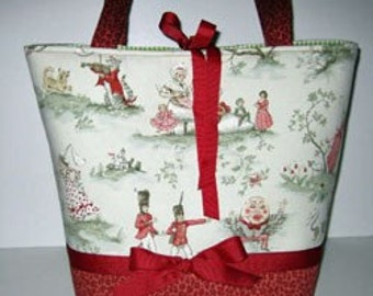 Over the Moon Nursery Rhyme Toile | Diaper Bag Tote | Large Diaperbag