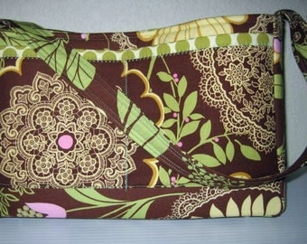 Handbag Purse | Amy Butler Lotus Lacework Full Moon Dot fabric | Medium size bag