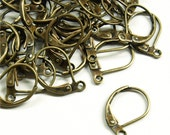 EWBAB-lb - Earwire, Leverback, Antique Brass - 10 Pieces (1pk)