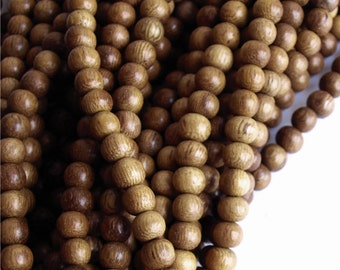 Wood Bead, Round 6mm, Robles - 16 Inch Strand
