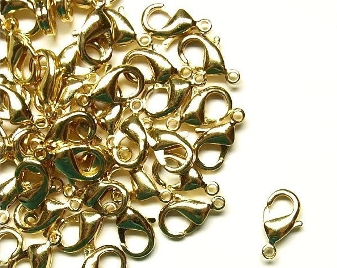 CLBGP-lb10 - Clasp, Lobster, 10mm, Gold - 10 Pieces (1pk)