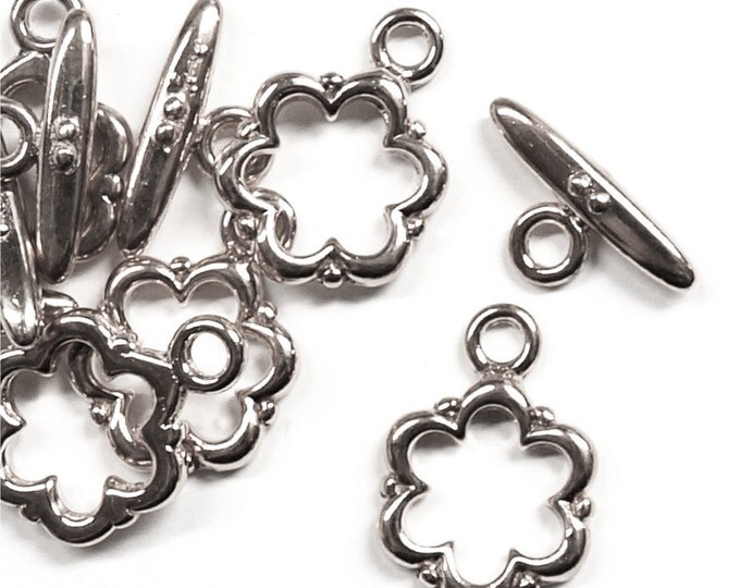 CLARP-TG03 - Clasp, Toggle, 13mm, Rhodium - 5 Sets