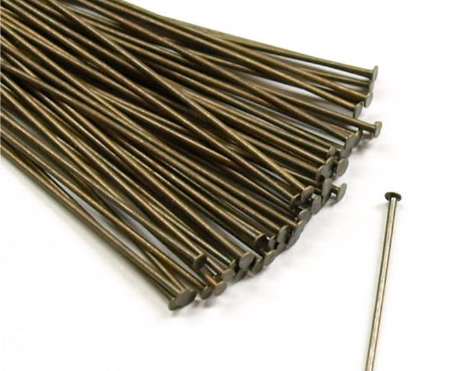 HPBAB-5021 - Head Pin, 2 in/21 ga, Antique Brass - 50 Pieces (1pk)