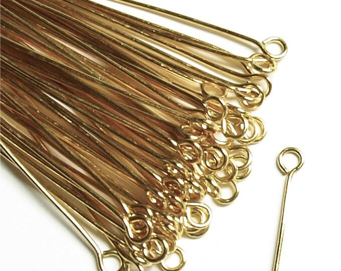 EPBGP-5021 - Eye Pin, 2 in/21 ga, Gold - 50 Pieces (1pk)