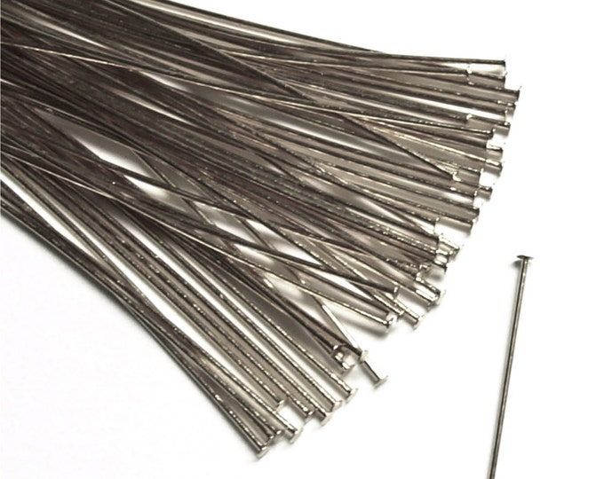 HPBRP-5024 - Head Pin, 2 in/24 ga, Rhodium - 50 Pieces (1pk)