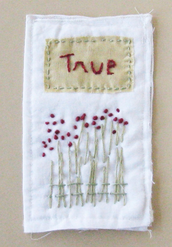 Mini textile piece, True