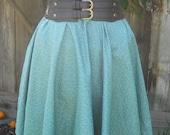 Gathered Circle Skirt in Mini Polka women cotton elastic skirt