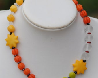 Bright sunny lucite necklace