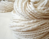 Fluffy snow, handspun white merino