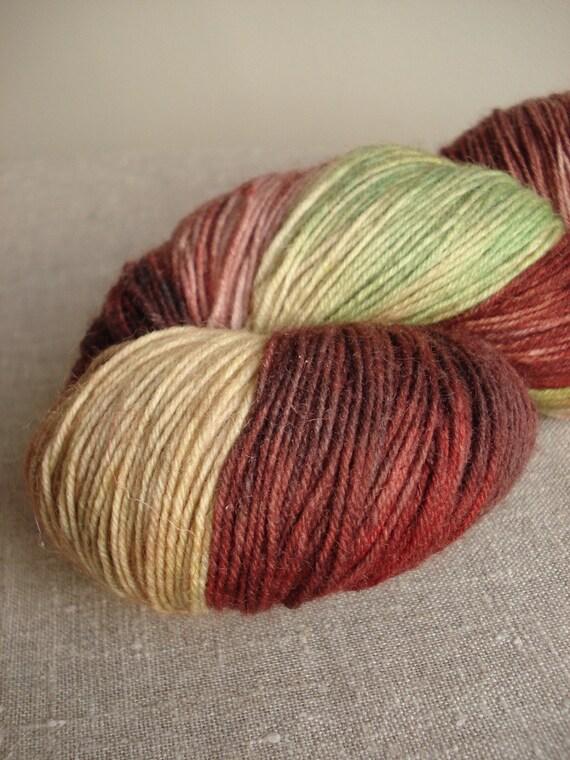 Hand dyed Merino wool sock yarn no. 19, red grapes