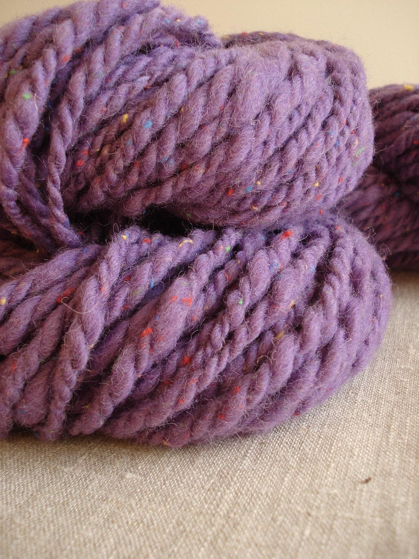 Purple Tweed handspun extra bulky yarn by Snowberrylime on Etsy