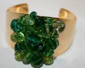 Golden Green Cuff Bracelet