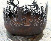 Dancing Devils Recycled Steel Fire Pit