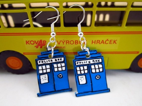 Doctor Who TARDIS Earrings - Free Shipping