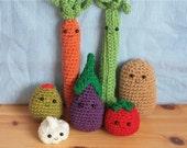 Bunch of Vegetables -- Crochet PATTERNS
