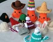 RESERVED Seasonal Safety Cone Hats -- Crochet PATTERNS -- pdf