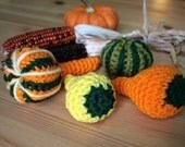 Autumn Gourds Crochet PATTERNS