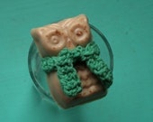 Malted Milkshake Soap with Crocheted Scarf
