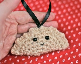 Crochet Pierogi Christmas Ornament