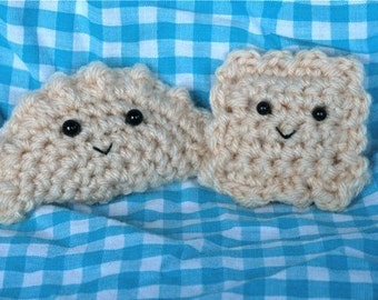 Crochet PATTERNS for Pierogi and Ravioli -- Dumplings