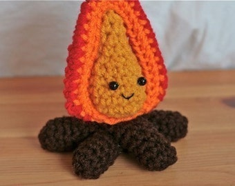 Sometimes it is okay to play with fire -- crochet campfire