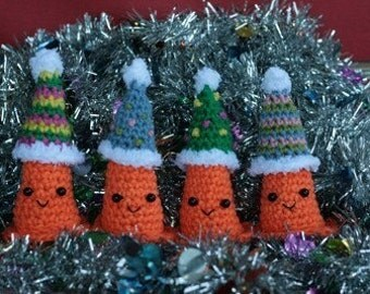 Safety Cone likes to party and play dress up -- CROCHET PATTERNS