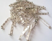 Brooch Bars x50 Nickle plated 30mm BULK BUY