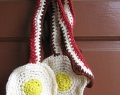 Bacon and Egg Scarf 1