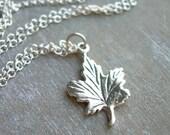 maple leaf forever . sterling silver maple leaf . silver