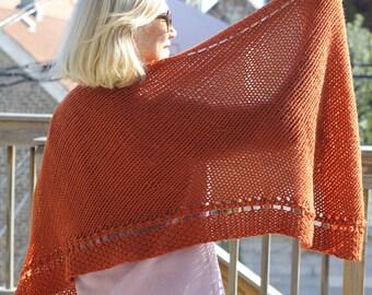 WORKSHELTER Corner to Corner Wrap Knitting Pattern