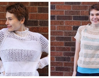 WORKSHELTER Lace Striped Sweaters Knitting Pattern