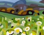budanart 5x7 Chunky Print - Summer Daisies