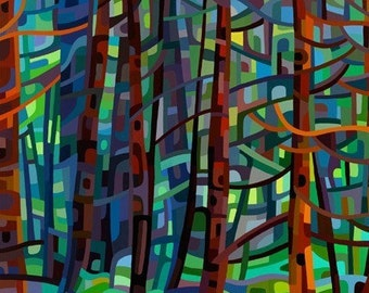 Abstract Fine Art Print - In a Pine Forest