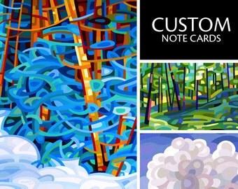 Custom - fine art print note card landscape flower art