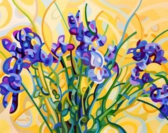 Abstract Fine Art Print Irises