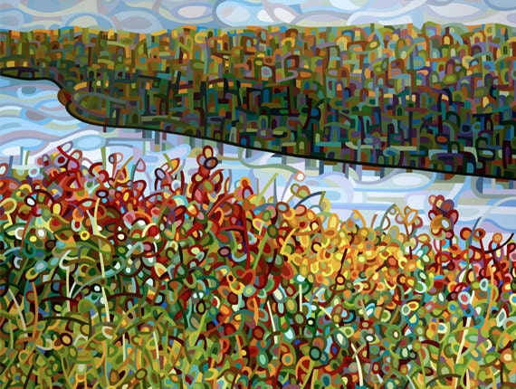 Abstract Fine Art Print - The River - 13 x 19
