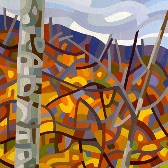 Abstract Fine Art Print  - October Heights