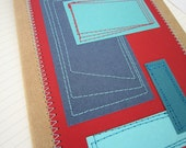 Geometric Journal . Stitched Hip to be Square . Lined Pages
