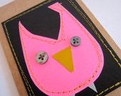 Owl Journal . Pocket Sized Moleskine . Lined Pages
