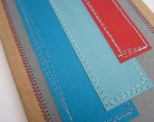 Geometric Notebook . Moleskine Journal . Stitched Hip to be Square . Grid Pages