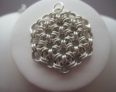 Sterling Silver Hex Pendant