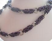 Dark Purple Byzantine Chainmail Necklace