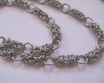 Stainless Steel Byzantine Chainmail lanyard