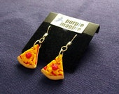 Margherita cheese and tomato earrings polymer clay