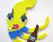 MiMi The Carnie Squid Pin OR Magnet Circus Freak Series Number 20